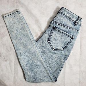 Delia's Liv Blue Acid Washed Skinny Jeans